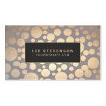 Stylish Gold Circles Beauty Salon and Spa Business Card