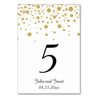 Stylish Gold Confetti Dots 2 | White Background Card