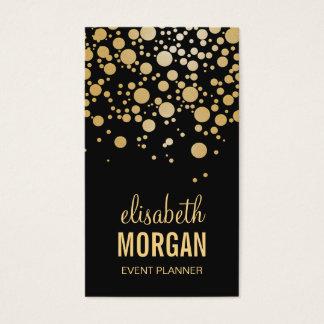 Stylish Gold Confetti Dots - Modern Beauty Black