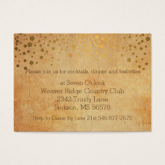 Stylish Gold Confetti Dots | Vintage Texture Business Card