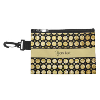 Stylish Gold Faux Buttons Accessory Bag