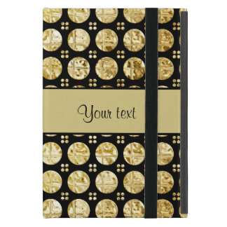 Stylish Gold Faux Buttons Covers For iPad Mini