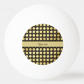 Stylish Gold Faux Buttons Ping Pong Ball