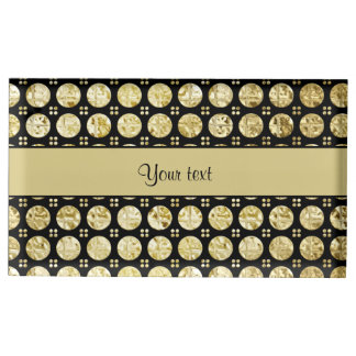 Stylish Gold Faux Buttons Place Card Holder