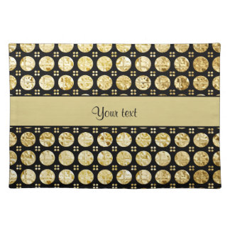 Stylish Gold Faux Buttons Placemat