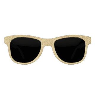 Stylish Gold Glitter Sunglasses