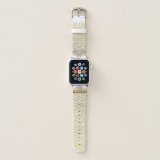 Stylish Gold Mandala Lace with Your Name Apple Watch Band