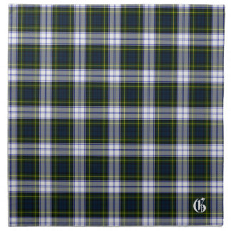 Stylish Gordon Dress Monogram Tartan Plaid Napkin