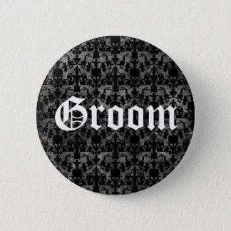 Stylish Gothic groom 6 Cm Round Badge