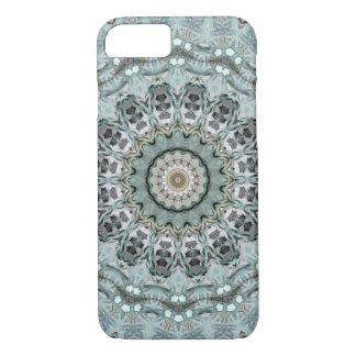 Stylish Gray and Aqua Mandala iPhone 8/7 Case