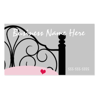 Stylish Gray and Pink Ornate Bed Business Card