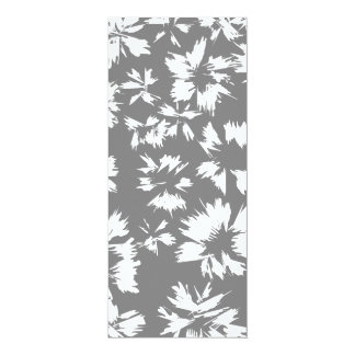 Stylish Gray and White Floral Pattern. Custom Announcement
