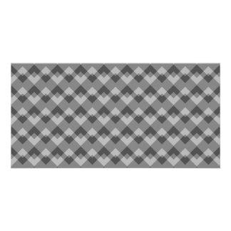 Stylish Gray Geometric Pattern Photo Card