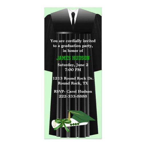 Stylish Green Graduation Party Invitation