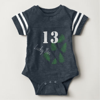 Stylish Green Kid Lucky 13 Fern Baby Bodysuit