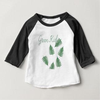 Stylish Green Kid Lucky Fern Baby 3/4 Sleeve Shirt