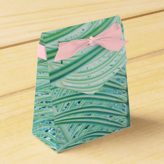 Stylish Green Plant Palm Leaf Favor Box