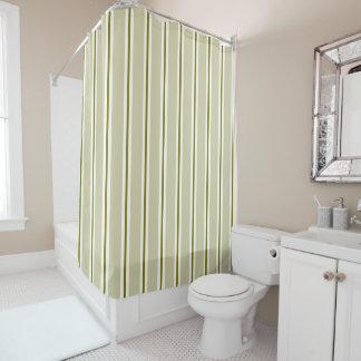 Stylish Green Stripes Shower Curtain