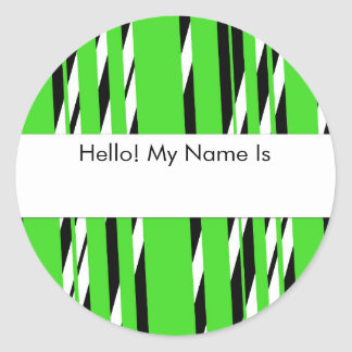 Stylish Green Stripped Sticker Sheet