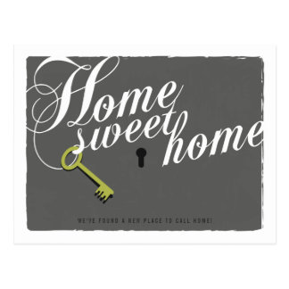 Stylish Grey New Address Announcement Postcard