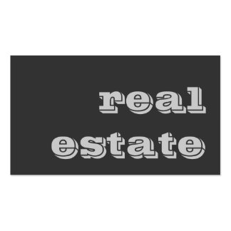 Stylish Grey Real Estate Agent Business Card