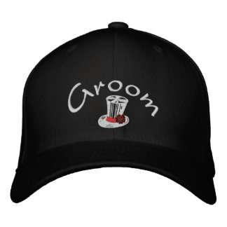 Stylish Groom's Embroidered Cap Baseball Cap