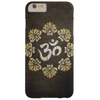Stylish Grunge Gold Om Symbol Yoga Barely There iPhone 6 Plus Case