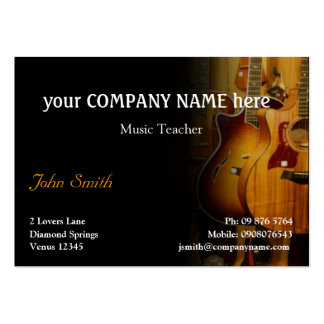 Stylish Guitar Business Card