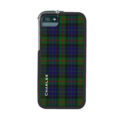 Stylish Gunn Tartan Plaid Custom iPhone 5/5S Cover