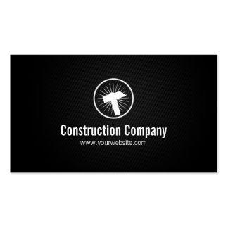 Stylish Hammer Icon Construction Business Card