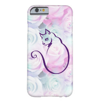 Stylish Hand Drawn Cat Floral iPhone 6/6s Case