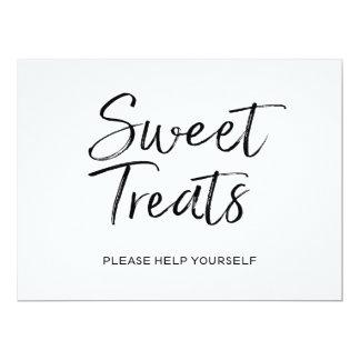 "Stylish Hand Lettered ""Sweet Treats"" Sign 17 Cm X 22 Cm Invitation Card"