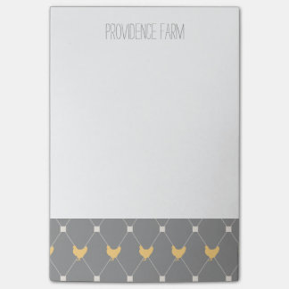 Stylish Harlequin Chicken Pattern Post-it Notes