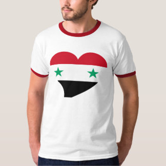 Stylish heart with flag of Syria T-Shirt