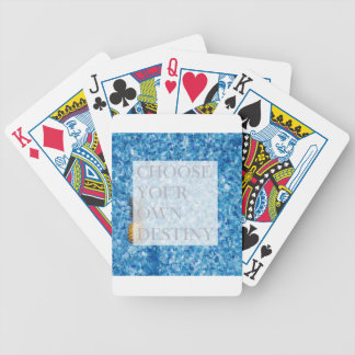 Stylish holiday beautiful quote bicycle playing cards