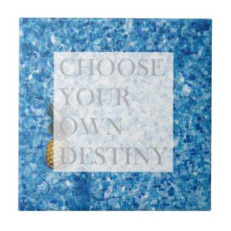 Stylish holiday beautiful quote ceramic tile