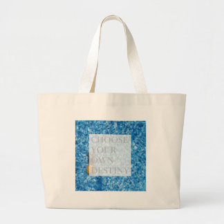 Stylish holiday beautiful quote large tote bag