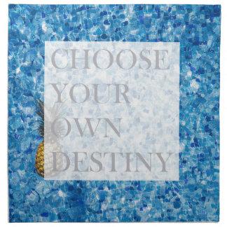 Stylish holiday beautiful quote napkin