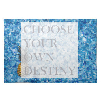 Stylish holiday beautiful quote placemat