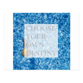 Stylish holiday beautiful quote postcard