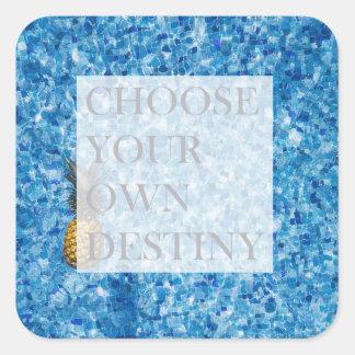 Stylish holiday beautiful quote square sticker