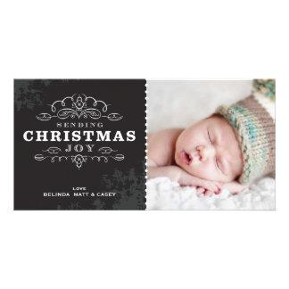 STYLISH HOLIDAY PHOTOCARD :: sending christmas joy Customised Photo Card