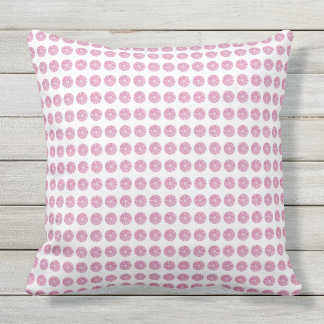 Stylish-Home-Outdoor-Indoor-Mod-Floral-Pink Cushion