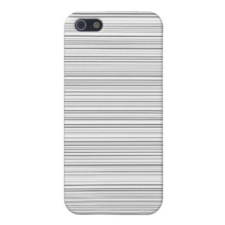 Stylish Horizontal Lines Design in Black and White Case For iPhone 5/5S
