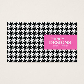 Stylish Houndstooth Business Card
