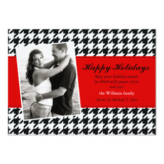 Stylish Houndstooth Holiday Card