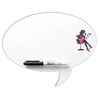 Stylish illustration of Pin up woman silhouette Dry-Erase Boards