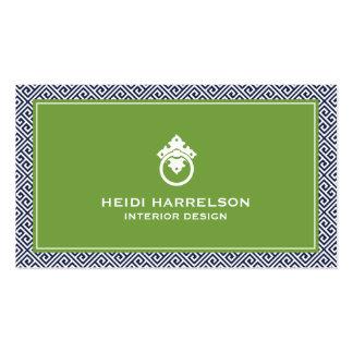Stylish Interior Designer Modern Glamour Pack Of Standard Business Cards