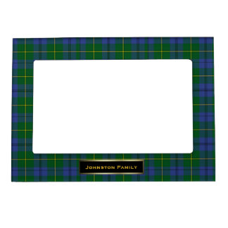 Stylish Johnston Family Tartan Plaid Custom Magnetic Picture Frame