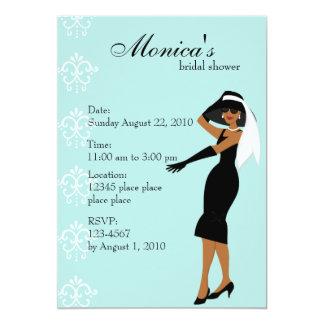 Stylish Lady 13 Cm X 18 Cm Invitation Card
